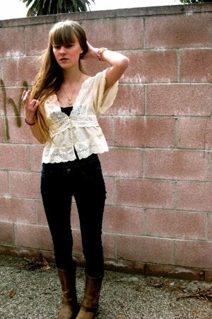 Forever21 shirt - American Apparel shirt - Forever21 jeans - vintage boots
