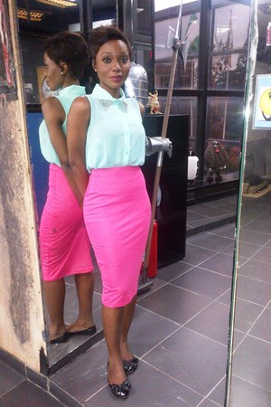 cherishcouture skirt - mint green cherishcouture blouse