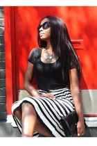 Vivienne Tam top - vintage skirt - Aldo heels