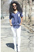 H&M shoes - Topshop pants - victorias secret pink top