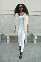 Zara shoes - Barneys vest - H&M pants - banana republic top