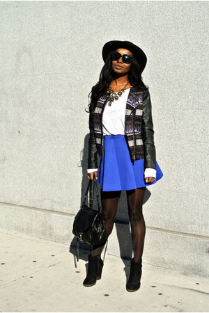 Zara boots - H&M jacket - Choies skirt