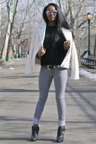 Forever 21 jacket - Forever 21 jeans - Zara sweatshirt