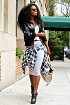 Express jacket - Zara bag - Topshop skirt