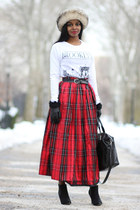 Brooks Brothers skirt - asos shoes - Urban Outfitters bag