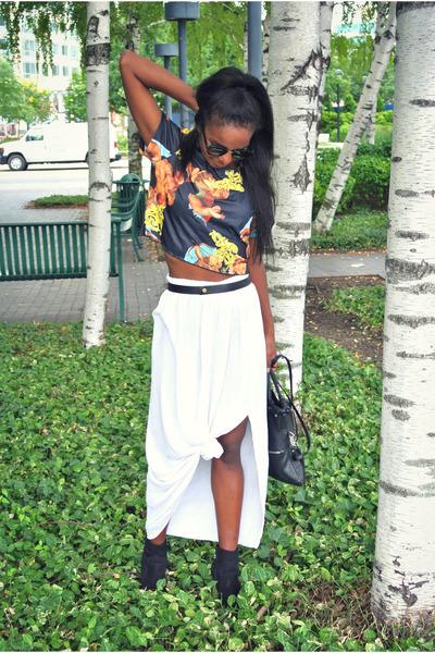 vintage top - vintage skirt