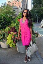 Zara bag - banana republic dress - H&M accessories - Guess heels