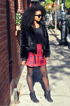 H&M skirt - Zara boots - Express coat
