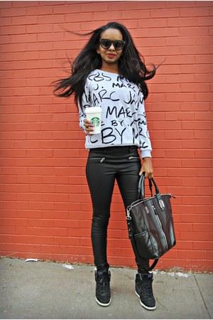 Zara pants - Sheinside sweatshirt - nike sneakers