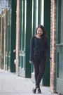 Navy-sugarlips-sweater-black-h-m-pants-black-asos-heels
