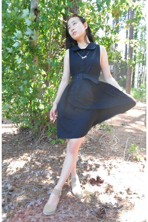 lbd cotton on dress - Ralph Lauren wedges - Forever 21 necklace