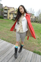 Forever 21 jacket - Target boots - trench coat Loft coat