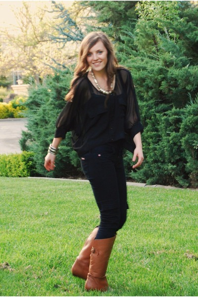 Leather Jeans And Boots Boots Black Hudson Jeans