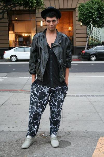 vintage pants - vintage jacket - hair bow accessories
