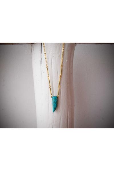 turquoise blue A Little Dot necklace
