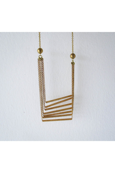 gold vintage brass A Little Dot necklace