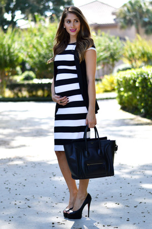 H&M vest - Zara dress - Celine bag - Christian Louboutin heels