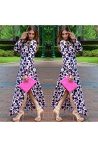 bubble gum H&M dress - hot pink BCBG purse