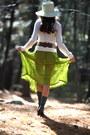 Chartreuse-random-hat-cashmere-ralph-lauren-sweater-chartreuse-vintage-skirt