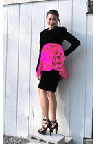 black vintage victor costa avante garde dress dress