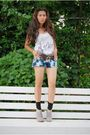 Blue-levis-tie-dyed-shorts-white-forever-21-top-brown-michael-kors-belt