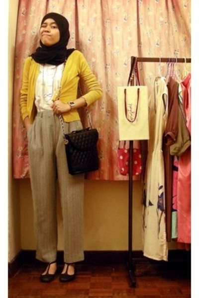 pants - Dotti - Springfield necklace - trademe purse - Shoe Warehouse shoes