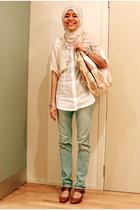 JayJays shirt - Equip purse - portmans vest - Shoe Warehouse shoes