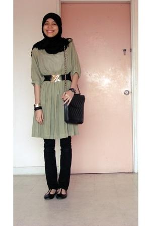 some online shop dress - bought from my friend belt - trademe purse - Shoe Wareh