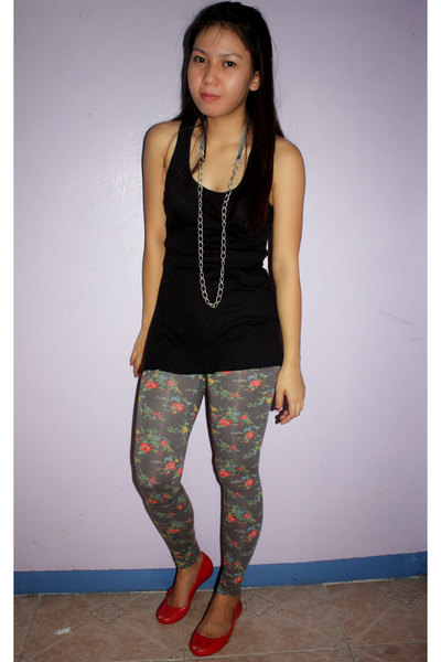 thrifted top - Topshop leggings - shoes - wwwfunshoppemultiplycom accessories