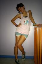 H&M top - DIY shorts - Converse shoes - genevieve gozum top