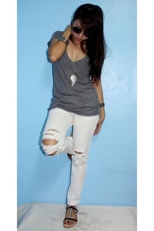 sunglasses - shirt - jeans - shoes - accessories