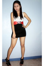 top - quiapo belt - Tube top worn as a skirt - GoJane shoes
