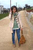 juan blanco shoes - BLANCO jeans - Zara jacket - amichi scarf - Zara bag - pull&