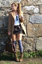 Zara boots - Stradivarius coat - Centromedia tights - Zara bag - Zara skirt