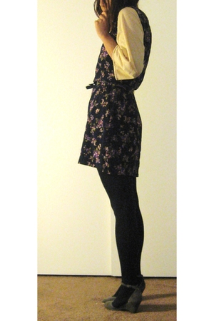 blouse - tights - Nina shoes - Rampage dress