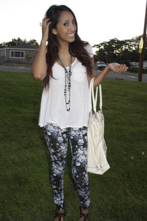 rue21 blouse - reu21 leggings - Guess purse