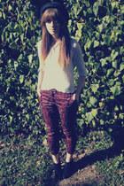 tapestry print H&M pants