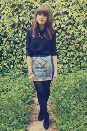 print H&amp;M skirt - sheer TK Max shirt