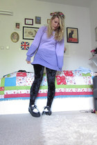 Oxfam jumper - creepers shoes - H&M leggings
