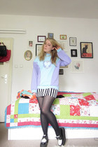 H&M skirt - creepers shoes - Hummel jumper