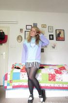 H&M skirt - creepers shoes - Hummel jumper