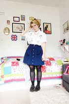 car boot sale blouse - creepers shoes - Kauf-Dich-Glueklich skirt