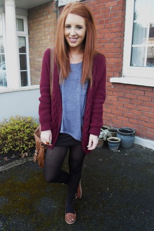 Urban Outfitters cardigan - Topshop top - Primark loafers