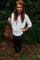 Primark bag - Primark blouse - Forever 21 t-shirt