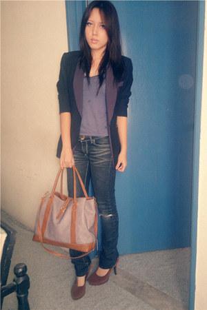 Hanabishi blazer - skinny jeans ROMP jeans - unbranded bag