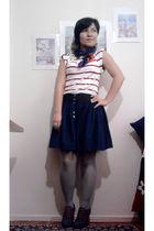 blue Zara skirt