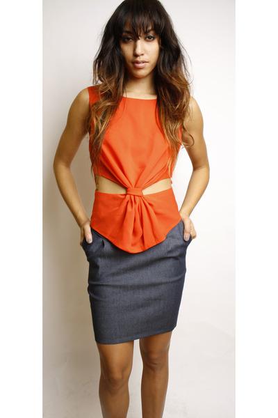 carrot orange Swaychiccom blouse