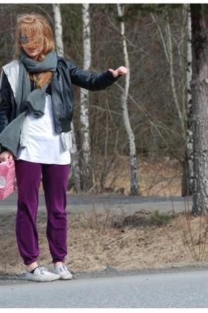 Primark pants - jacket - Cubus sweater - Monki scarf - H&M sunglasses