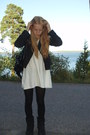 Black-zara-jacket-white-mango-dress-black-uggs-shoes-black-malta-accessori