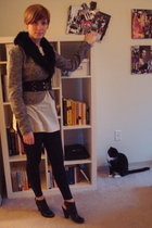 silence and noise coat - To The Max blouse - Nordstrom leggings - Nine West shoe
